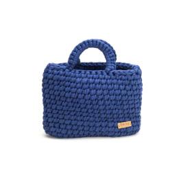 Pólófonalból horgolt táska - kicsi basic winsor-kék | P5101
