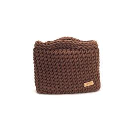 Kisméretű horgolt táska - basic kávébarna | ZS5001