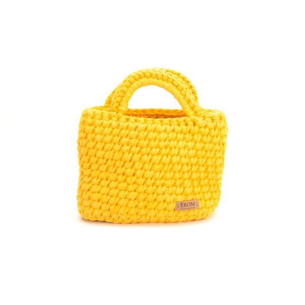 Pólófonalból horgolt táska - kicsi basic naprforgó | P5101