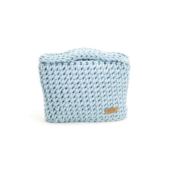 Kisméretű horgolt táska - basic babakék | ZS5001