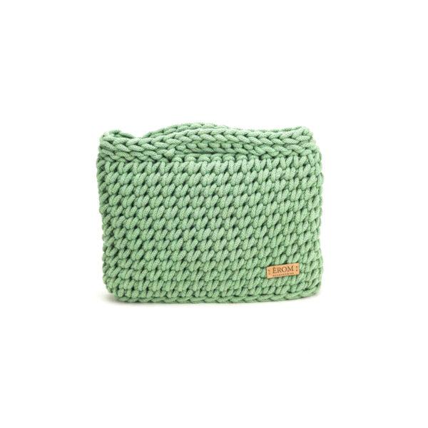 Kisméretű horgolt táska - basic mentazöld | ZS5001