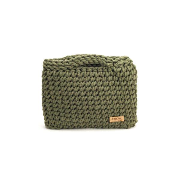 Kisméretű horgolt táska - basic mohazöld | ZS5001