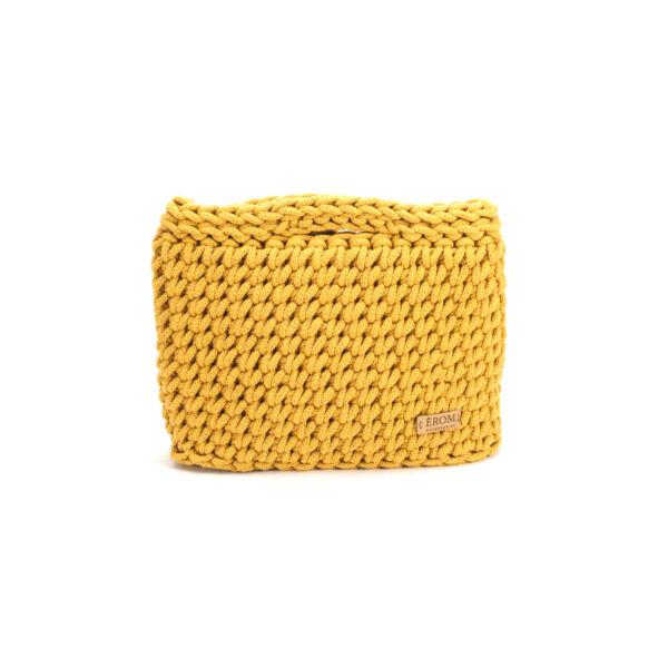 Kisméretű horgolt táska - basic mustársárga | ZS5001