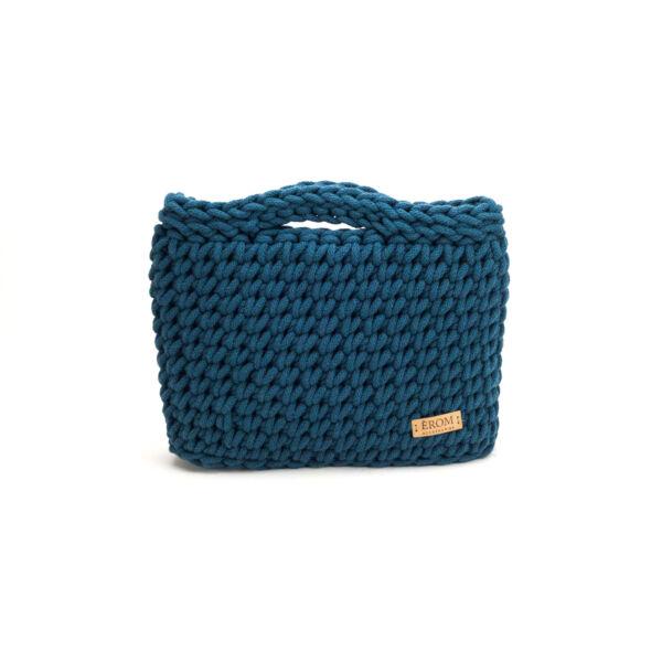 Kisméretű horgolt táska - basic olajkék | ZS5001