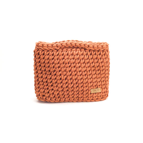Kisméretű horgolt táska - basic terrakotta | ZS5001